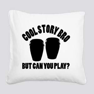 Conga vecto designs Square Canvas Pillow