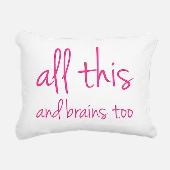 allthisBrains1D Rectangular Canvas Pillow