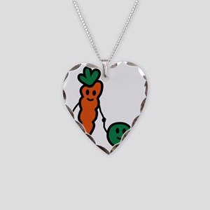 carrot_and_pea Necklace Heart Charm