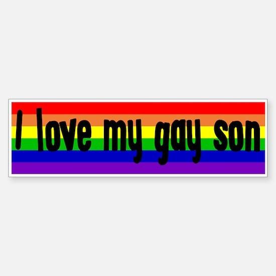 """Gay Son"" Bumper Bumper Bumper Sticker"