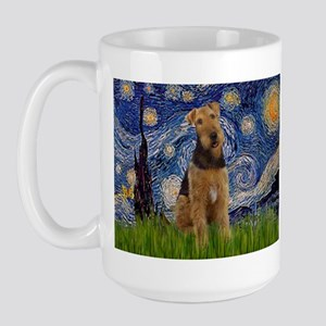 Starry - Airedale #1 Large Mug