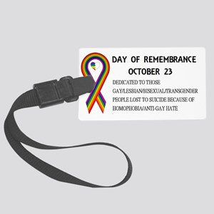 Day of Remembrance Large Luggage Tag