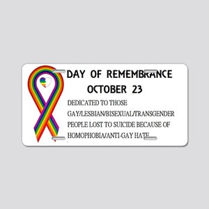 Day of Remembrance Aluminum License Plate