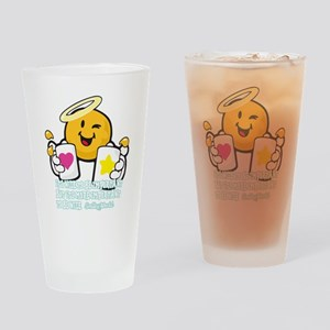 Be nice Smiley Drinking Glass