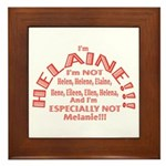 I'm Helaine 2 Framed Tile