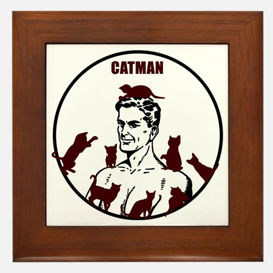 The Crazy CatMan Framed Tile