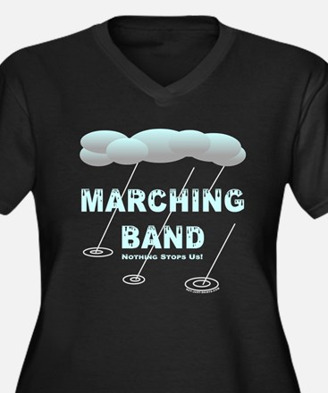 Marching Band in the Rain Women's Plus Size V-Neck
