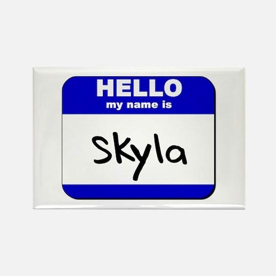 hello my name is skyla Rectangle Magnet