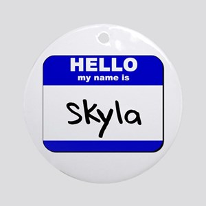 hello my name is skyla  Ornament (Round)