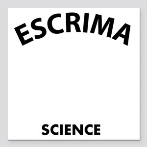 """Escrima the real sweet s Square Car Magnet 3"""" x 3"""""""