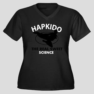 Hapkido the  Women's Plus Size Dark V-Neck T-Shirt