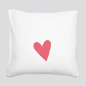 Cute First Time Mommy Square Canvas Pillow
