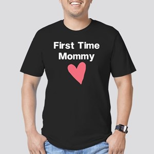 Cute First Time Mommy Men's Fitted T-Shirt (dark)