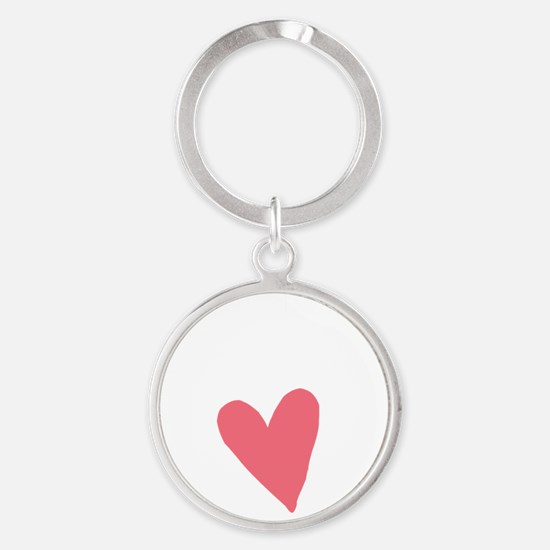 Cute First Time Mommy Round Keychain
