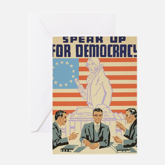Speak Up For Democracy Political Pos Greeting Card
