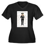 The Grammar Police Women's Plus Size V-Neck Dark T