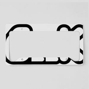 geek License Plate Holder