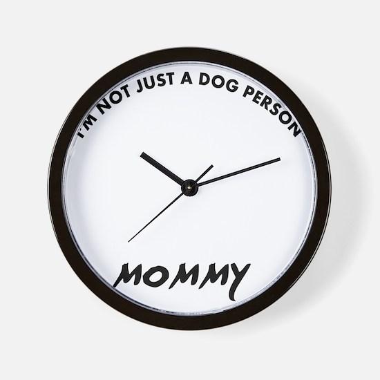 Borzoi mommy designs Wall Clock