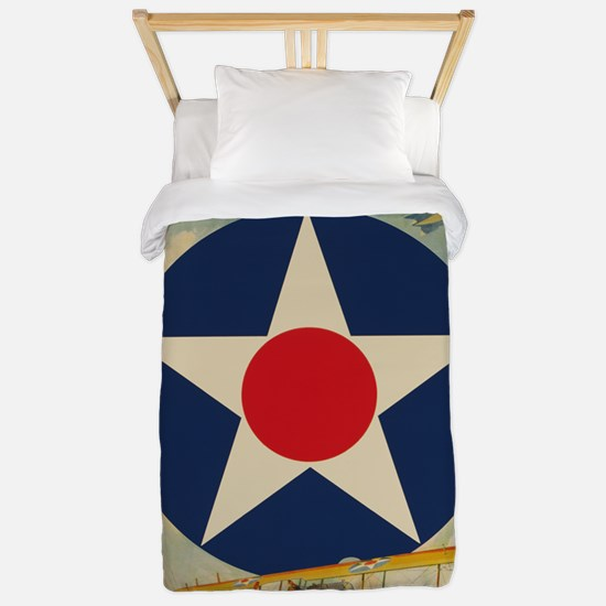 Join The Air Service Political Poster Twin Duvet