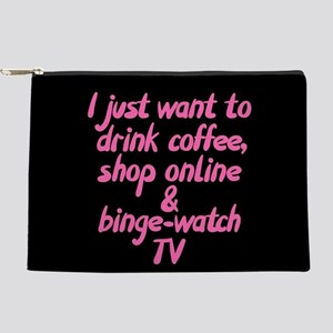 Drink Coffee Shop Online and Binge-Wa Makeup Pouch