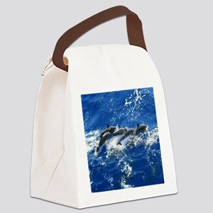 Pan Tropical Dolphins Canvas Lunch Bag
