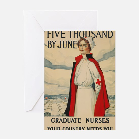 USA military Nurse country needs you Greeting Card