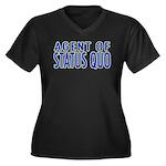 Agent of Status Quo Women's Plus Size V-Neck Dark
