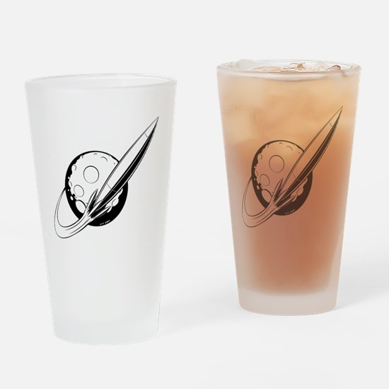 Retro Swoosh (Monochrome) Drinking Glass