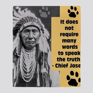 Chief Joseph Quote Throw Blanket