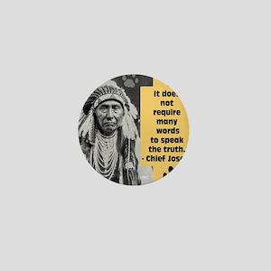 Chief Joseph Quote Mini Button