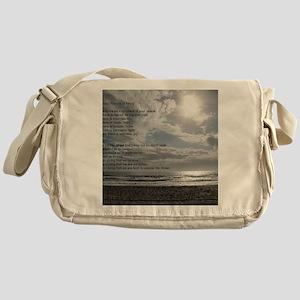 Prayer of St. Francis over beach Messenger Bag