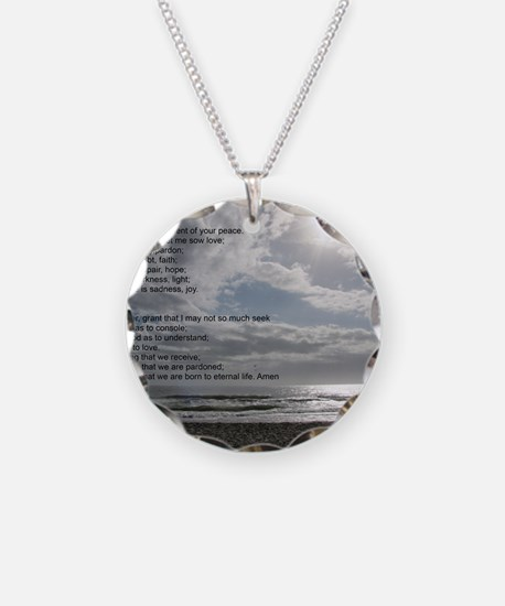 Prayer of St. Francis over b Necklace