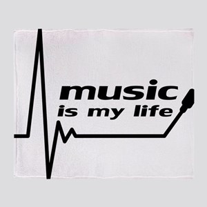 music_is_my_life Throw Blanket