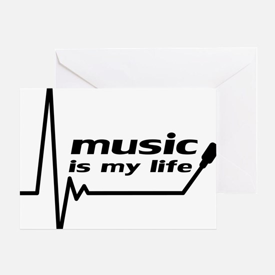 music_is_my_life Greeting Card