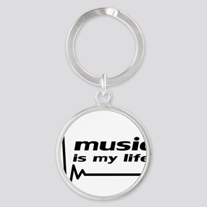 music_is_my_life Round Keychain