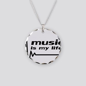 music_is_my_life Necklace Circle Charm