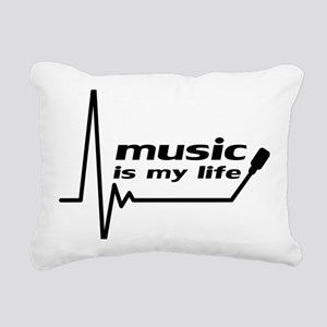 music_is_my_life Rectangular Canvas Pillow