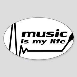 music_is_my_life Sticker (Oval)