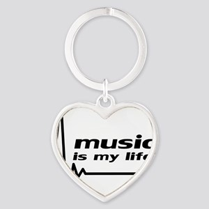music_is_my_life Heart Keychain