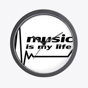 music_is_my_life Wall Clock