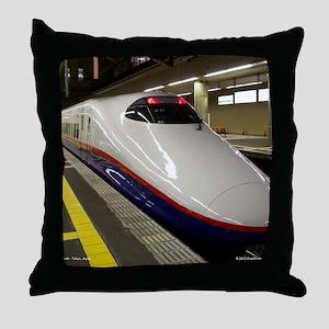 Bullet Train Throw Pillow