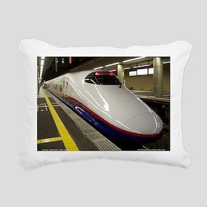 Bullet Train Rectangular Canvas Pillow
