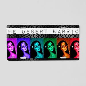 The Desert Warrior Aluminum License Plate