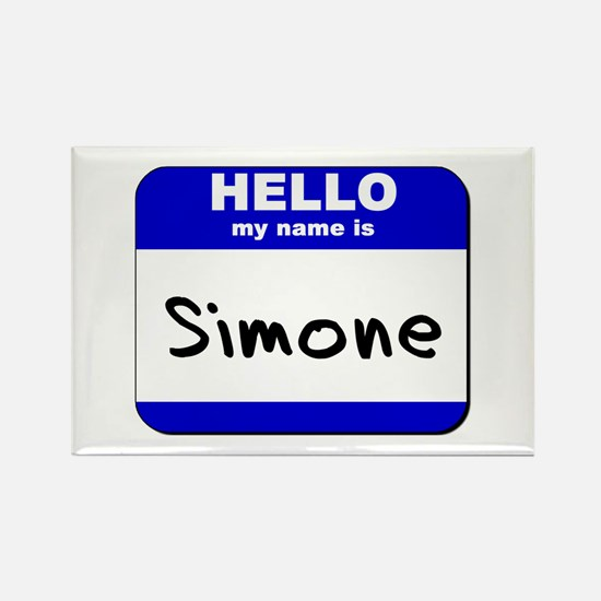 hello my name is simone Rectangle Magnet