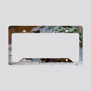 leopard geckos house License Plate Holder