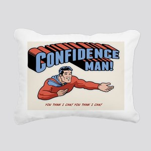 confidence-man2-CRD Rectangular Canvas Pillow