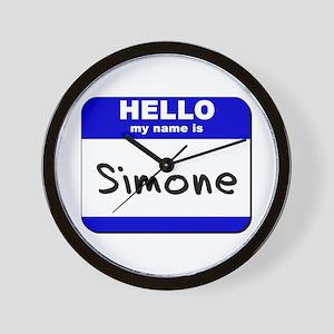hello my name is simone  Wall Clock