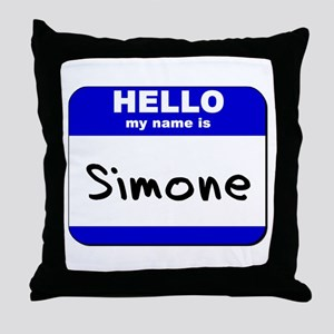 hello my name is simone  Throw Pillow