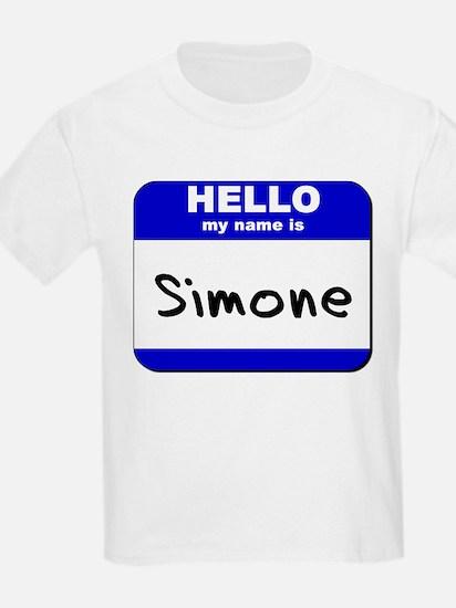 hello my name is simone T-Shirt