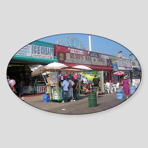 Coney Island Boardwalk 1 Sticker (Oval)